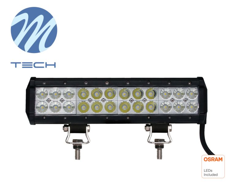 LED rampa M-TECH, 298mm, 24X3W OSRAM LED