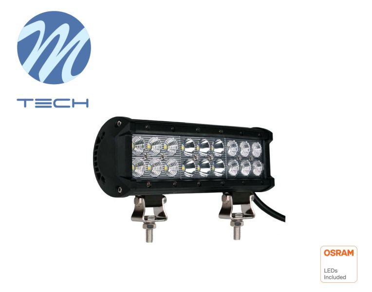 LED rampa M-TECH, 230mm, 18X3W OSRAM LED