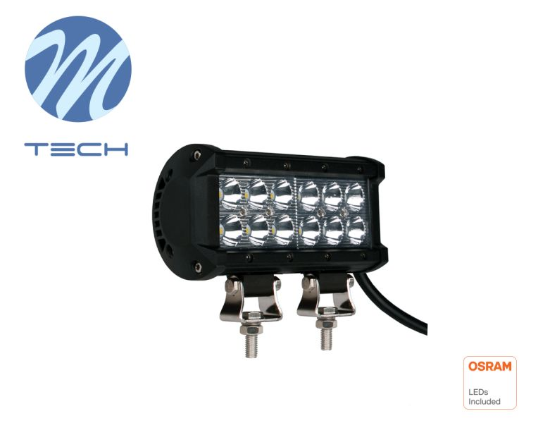 LED rampa M-TECH, 161mm, 12X3W OSRAM LED