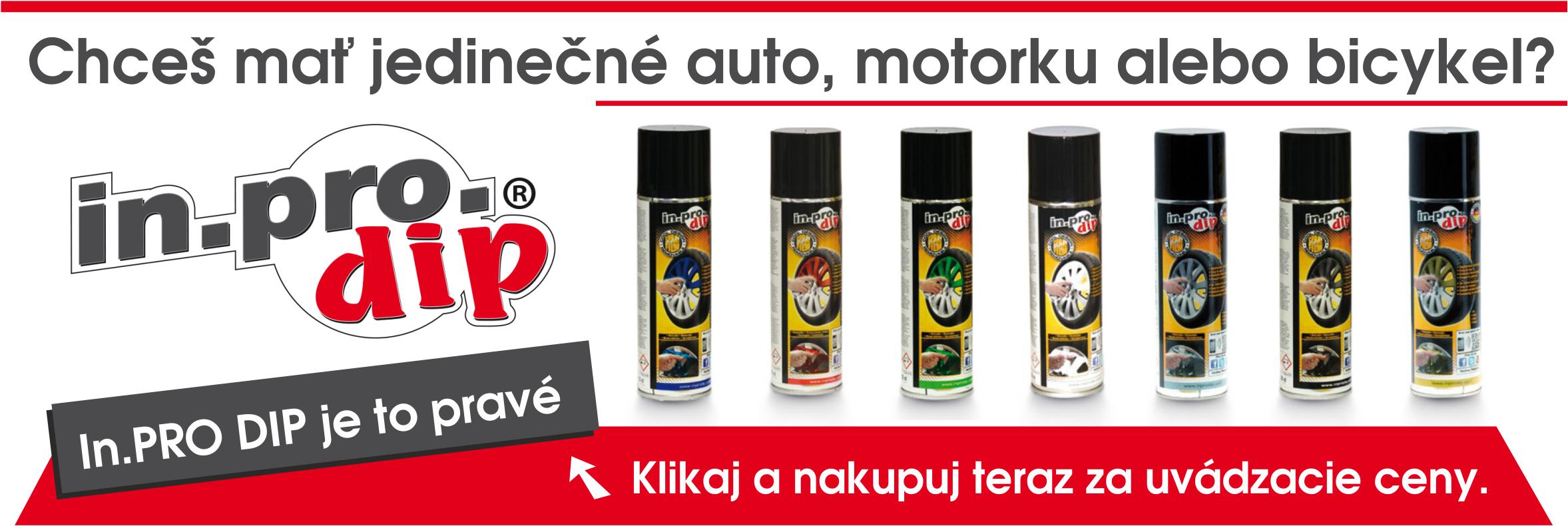 InPro DIP - tekutá guma pre jedinečný vzhľad Vášho auta